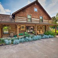 Spacious Log Cabin on the Wolf River with Fireplace!, hotel in White Lake