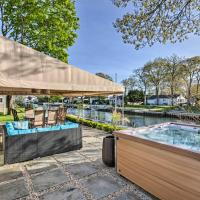 Luxury Hamptons Home on Canal with Dock and Kayaks, hotel in East Quogue