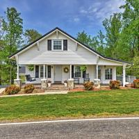 Dobson Farmhouse with Wraparound Porch and Fire Pit!, hotel in Dobson