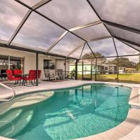 Waterfront Home w/ Heated Pool & Lake Views!, hotel in North Port