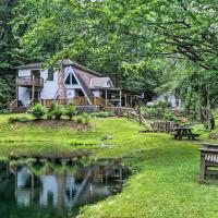 Serene Todd Home with Private Pond & Creek!