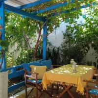 A Cretan house in the garden.