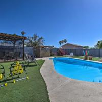 Updated Phoenix Getaway with Pool, Patio and Fire Pit!