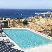 Modern home with 2 apartments, a swimming pool and sea view, ideal for 2 familes or a group pf friends.