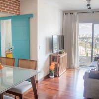 Apartamento aconchegante, vista incrível, piscina, playground