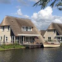 Beautiful villa with a sauna, at the Tjeukemeer