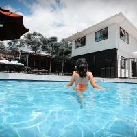 Swimming pool view and new furnished room
