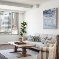 Darling Harbour Apartment with Parking, Views Pool