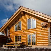 Luxus-Ferienhaus Blockhaus Chalet Nr 1 mit Sauna Fussbodenheizung im EG Kamin zentral in Feldberg-Ort