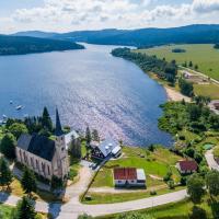 Marvelous lake view apartments - Jezerka Lipno, отель в городе Пршедни Вытонь