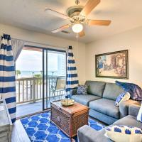 Cozy Condo with Balcony & Ocean View - Walk to Beach!