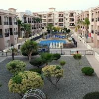 First floor, 2 bedroom apartment, pool view & FREE WIFI