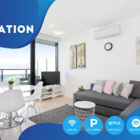South Yarra City View Apartment with Car Park, Amazon Alexa, Spotify, Netflix, and WiFi