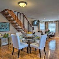 Waterfront Home with Large Deck and Dock on Narrow Bay, hotel in Mastic Beach
