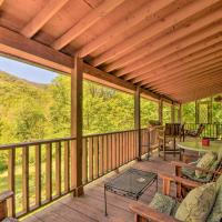 Enchanting Cabin with Mtn Views and Creekside Trail!, hotel in Robbinsville