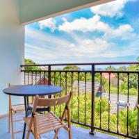 Apartment with 3 bedrooms in Au Cap with wonderful sea view enclosed garden and WiFi 100 m from the beach