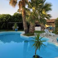 Villa with 3 bedrooms in Reggio Calabria with wonderful sea view private pool enclosed garden 10 m from the beach