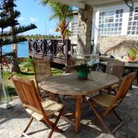 House with one bedroom in Saint Martin with wonderful sea view furnished garden and WiFi 100 m from the beach
