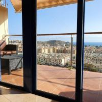 Apartment with 2 bedrooms in Puerto de Mazarron with wonderful sea view shared pool terrace 1 km from the beach
