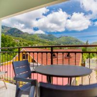 Apartment with one bedroom in Au cap with wonderful mountain view enclosed garden and WiFi 100 m from the beach