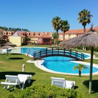 Apartment with 2 bedrooms in Islantilla with wonderful mountain view shared pool and terrace 700 m from the beach