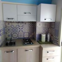 Studio in Formicola with wonderful mountain view and furnished terrace 35 km from the beach