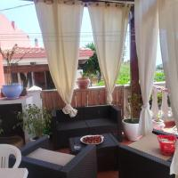 Apartment with 2 bedrooms in Pianoconte with wonderful sea view furnished terrace and WiFi 2 km from the beach