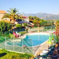House with one bedroom in Sartene with wonderful mountain view shared pool enclosed garden 15 km from the beach