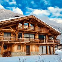 Chalet de 4 chambres a Samoens avec magnifique vue sur la montagne jardin amenage et WiFi a 700 m des pistes