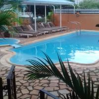 Studio in Pointe aux piments with shared pool balcony and WiFi 200 m from the beach