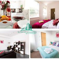 "Leed's No 1 Property for Groups, Families & Contractors with Sky Emerald Apartments, Leeds - 3 & 4 Bedroom House Available""Free Wifi"" & Car Park"