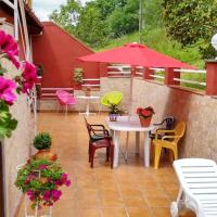 Apartment with 2 bedrooms in Villamayor, with wonderful mountain view, furnished terrace and WiFi