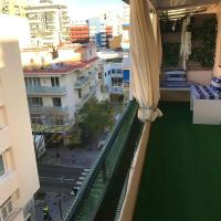 Apartment with 2 bedrooms in Fuengirola with wonderful city view and furnished terrace 200 m from the beach