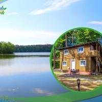Jagd-Angler-Holzhaus-im-Wald-am-See