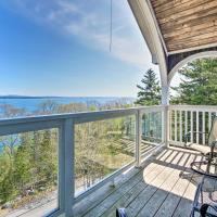 Turret-Style Home with Deck & Views of Frenchman Bay!