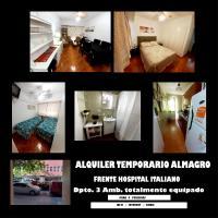 Hptal Italiano Alq Temporario 3 amb para 4 personas Caba