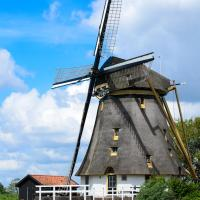 Mondriaanmolen, a real Windmill close to Amsterdam