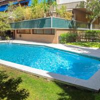 Studio in Madrid with shared pool enclosed garden and WiFi