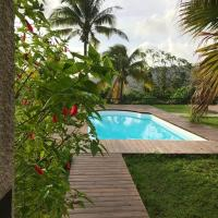 Villa with 3 bedrooms in CasePilote with wonderful sea view private pool enclosed garden 3 km from the beach