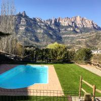 Villa with 3 bedrooms in Monistrol de Montserrat with wonderful mountain view private pool furnished terrace, hotel en Monistrol