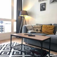 Airelle, bel appartement avec loggia vue montagne