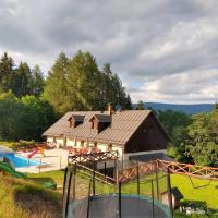 """Cottage """"Chalupa Barborka"""" - in the National Park, with 6 bedrooms, kitchen, dining room, sauna, swimming pool, playground"""