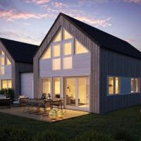 Moderne hytte rett ved sjøen, familievennlig beliggenhet i Åros