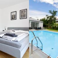"""Modern Balcony Apartment with Pool close to Lake in """"Donaustadt"""""""
