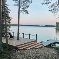 Bearhill husky's Lakeside log cabin