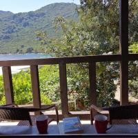 Calm lagoon at sea, hotel in Okuklje