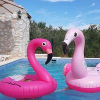 Flamingo house with pool, hotel v destinaci Donji Seget