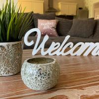 Ferienwohnung mit Kamin und Gartenblick