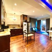 Vancouver West fancy and spacious one-bedroom suite with high-end billiards