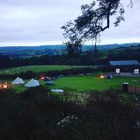 Bell tent wild camping Welsh valleys